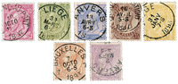 Belgique 1884 - Oblitéré - OBP 46-52