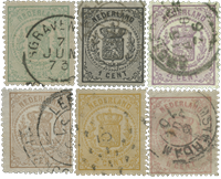 Holland 1869 - NVPH 13-18 - Stemplet