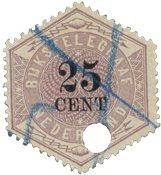 Pays-Bas - Télégramme 25C, NVPH TG 7, obl.