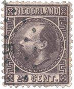 Pays-Bas - Roi Willem III 1867 Type II, NVPH 11II,  obl.