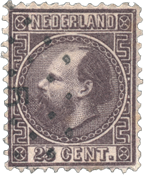 Holland 1867 - NVPH 11II - Stemplet