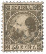 Pays-Bas - Roi Willem III 1867 Type II, NVPH 12II,  obl.