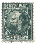Pays-Bas - Roi Willem III 1867 Type I, NVPH 10I, obl.