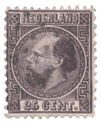 Pays-Bas - Roi Willem III 1867 Type I, NVPH 11I, obl.