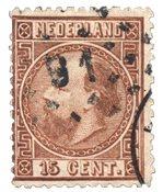 Pays-Bas - Roi Willem III 1867 Type II, NVPH 9II, obl.