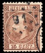 Nederland 1867 - Nr. 9II - Gebruikt