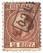 Pays-Bas - Roi Willem III 1867 Type I, NVPH 9I, obl.