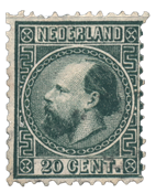 Holland 1867 - NVPH 10II - Stemplet