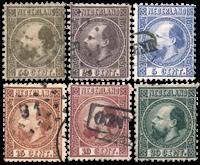 Nederland 1867 - Nr. 7-12II - Gebruikt