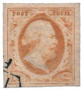 Pays-Bas - Roi Willem III, NVPH 3, obl. de haute qualité