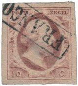 Pays-Bas - Roi Willem III, NVPH 2, obl. de haute qualité