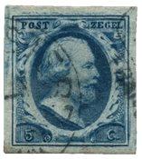 Pays-Bas - Roi Willem III, NVPH 1, obl. de haute qualité
