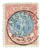 Holland 1893-1896 - NVPH 47 - Stemplet