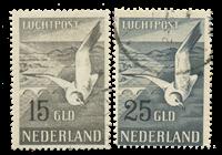Pays-Bas - Poste aérienne 1951, NVPH LP12 et LP13,  obl.