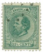 Pays-Bas - Roi Willem III 1872-1888, NVPH 25, obl.