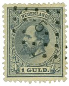 Pays-Bas - Roi Willem III 1872-1888, NVPH 28, obl.