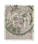 Pays-Bas - Armoiries 1869-1871, NVPH 18, obl.