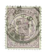 Holland 1869-1871 - NVPH 18 - Stemplet