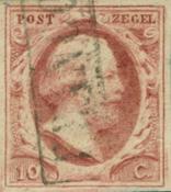 Nederland 1852 - Nr. 2 - Gebruikt