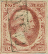 Holland 1852 - NVPH 2 - Stemplet