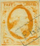 Holland 1852 - NVPH 3 - Stemplet