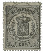 Pays-Bas - Armoiries 1869-1871, NVPH 14, obl.