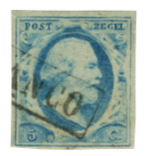 Holland 1852 - NVPH 1 - Stemplet