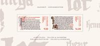 Danemark - Ecritures manuscrites d'Islande - Bloc-feuillet neuf