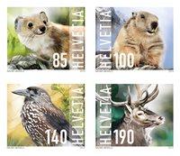 Schweiz - Vilde dyr - Postfrisk sæt 4v
