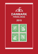 AFA - Denmark, blocks of four 2015 - Stamp catalogue