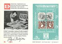 Danmark - Hafnia 1976 - miniark I førstedagskuvert
