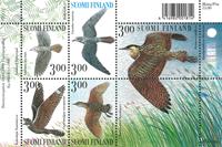 Finlande-oiseaux bloc-feuil. #