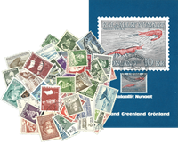 Groenland - 55 timbres + carte maximum