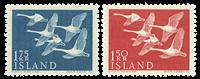 Island 1956 - Svaner - Postfrisk