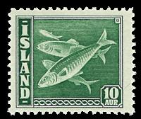 Iceland 1940 - Fish - AFA no.  216 *