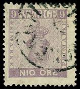 Sverige 1858 AFA nr. 8 - stemplet