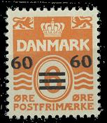 Færøerne 1941 - Provisorie 60/6 øre - Postfrisk