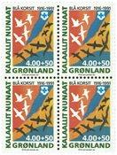 Groenland - Croix Bleue bloc de 4 neuf