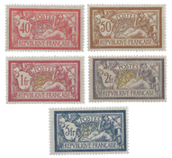 Frankrig - YT 119-123 - Ubrugt