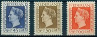 1947 Netherlands Wilhelmina set 487-89