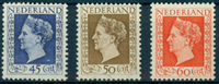 Holland 1947 Holl Wilhelmina sæt487-89