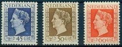 1947 Netherlands Wilhelmina set 487-89