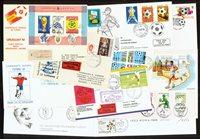 football - 16 rare envelopes