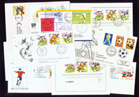 Football - 9 rare envelopes