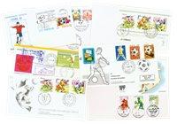 Enveloppes football rares 7 pièces