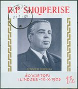 Albania 1968 - 60 years birthday of Enver Hoxhas