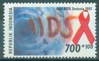 Indonesien - Kampen imod AIDS - Postfrisk frimærke