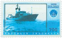 Indonesien - Havets år - Postfrisk frimærke
