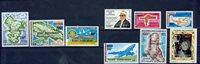 Comores 9 timbres neufs