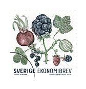 Suède - Baies de l'automne - Timbre neuf - Economie